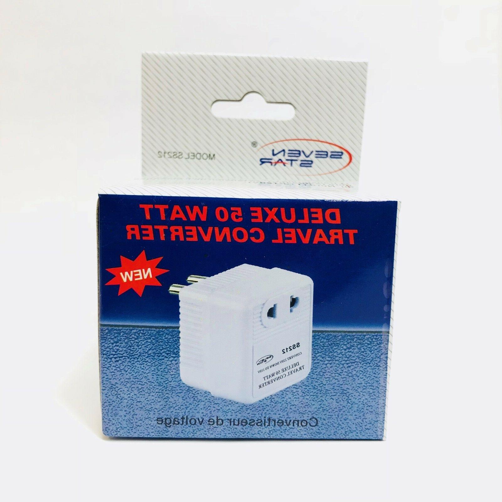 50 Converter 220 to 110 Volts Travel Adapter