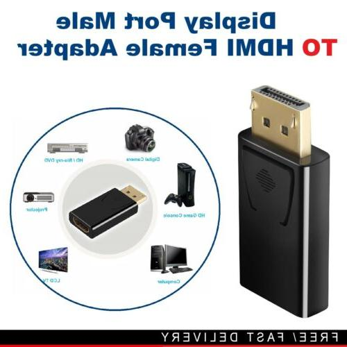 displayport dp to hdmi converter adapter male