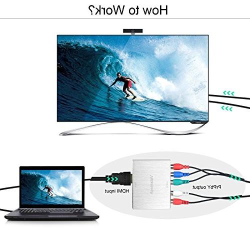 Volantech 4K HDMI to Component 5RCA + with R/L Support Fire TV