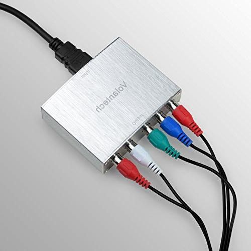 Volantech HDMI Component 5RCA + Converter with R/L Support Fire etc.