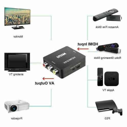 HDMI To Adapter Converter Cable CVBS 3RCA Composite Video Audio /US