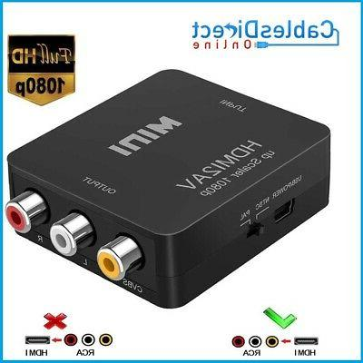 hdmi to rca composite converter audio video