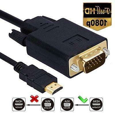 hdmi vga cable gold plated