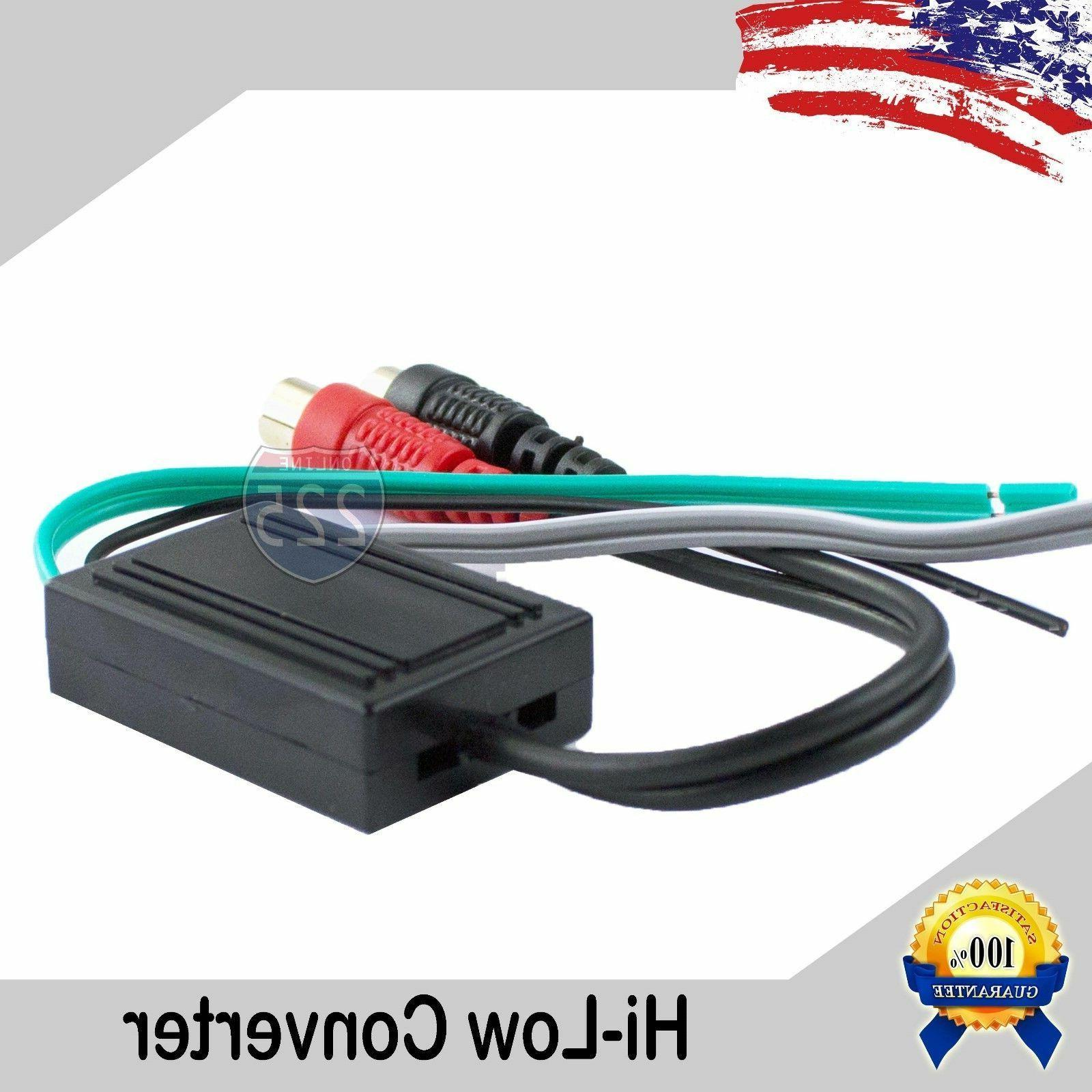 High to Low Line Output Speaker Wire to Gold