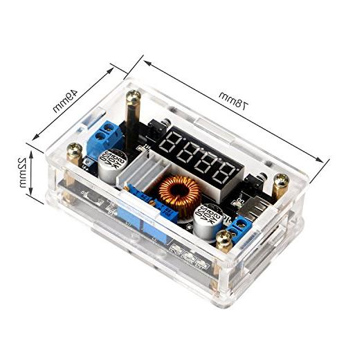 DROK® LM2596 DC Buck Volt Regulator 24V 5V 3V Converters 5-36V 75W Driver Switch Power Digital LED Output