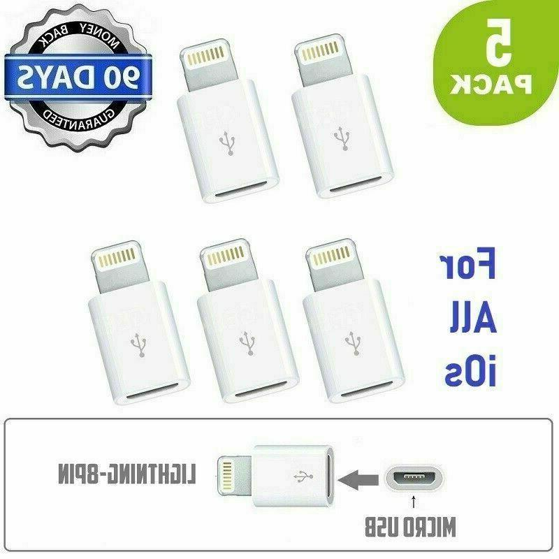 5 x android micro usb to 8