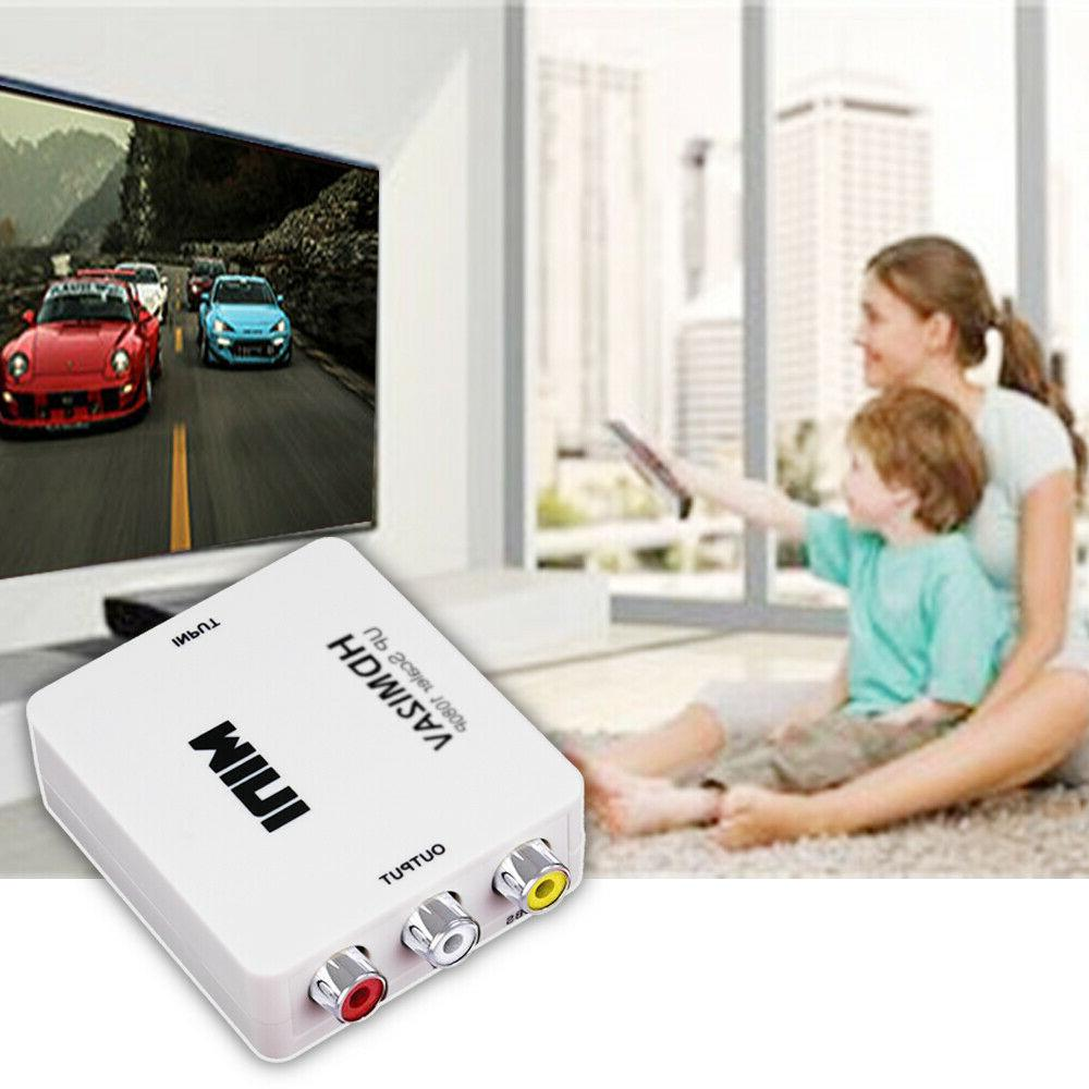 Mini HDMI AV Adapter 3RCA 1080P Composite Video Audio