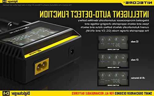 Nitecore smart 2015 with LCD Display Cable EdisonBright AA to D Battery Converter Spacers