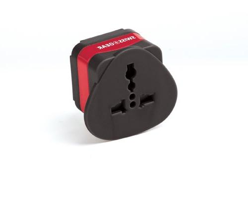 SwissGear Grounded Adapter - South America, Singapore, parts of Black, Size