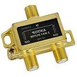 ANTOP Low-Loss 2 Way Coaxial Splitter for TV Antenna and Sat