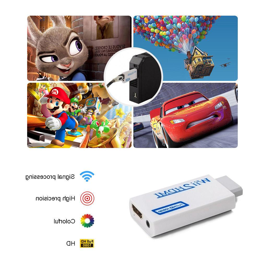 Portable Wii Wii2HDMI Audio Output Adapter TV