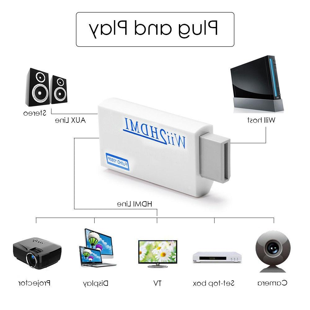 Portable to Wii2HDMI Audio Output Adapter
