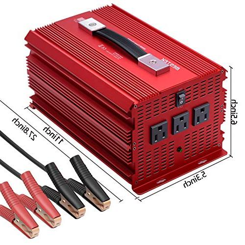 BESTEK Power Inverter DC to AC for with AC Wave Converter 4 Car Power Inverter for &Emergency … …