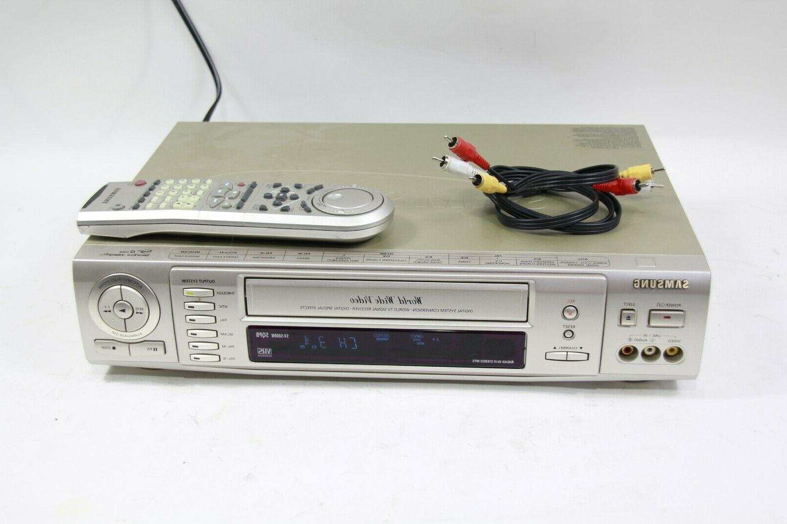sv 5000w world wide video vhs vcr