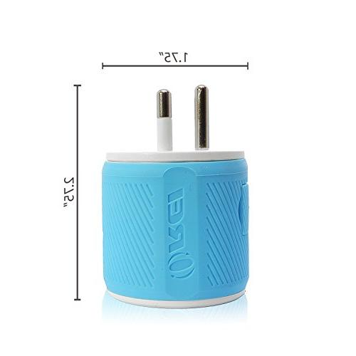 Orei U2U-18 OREI Travel Plug Dual USB - Protection - O