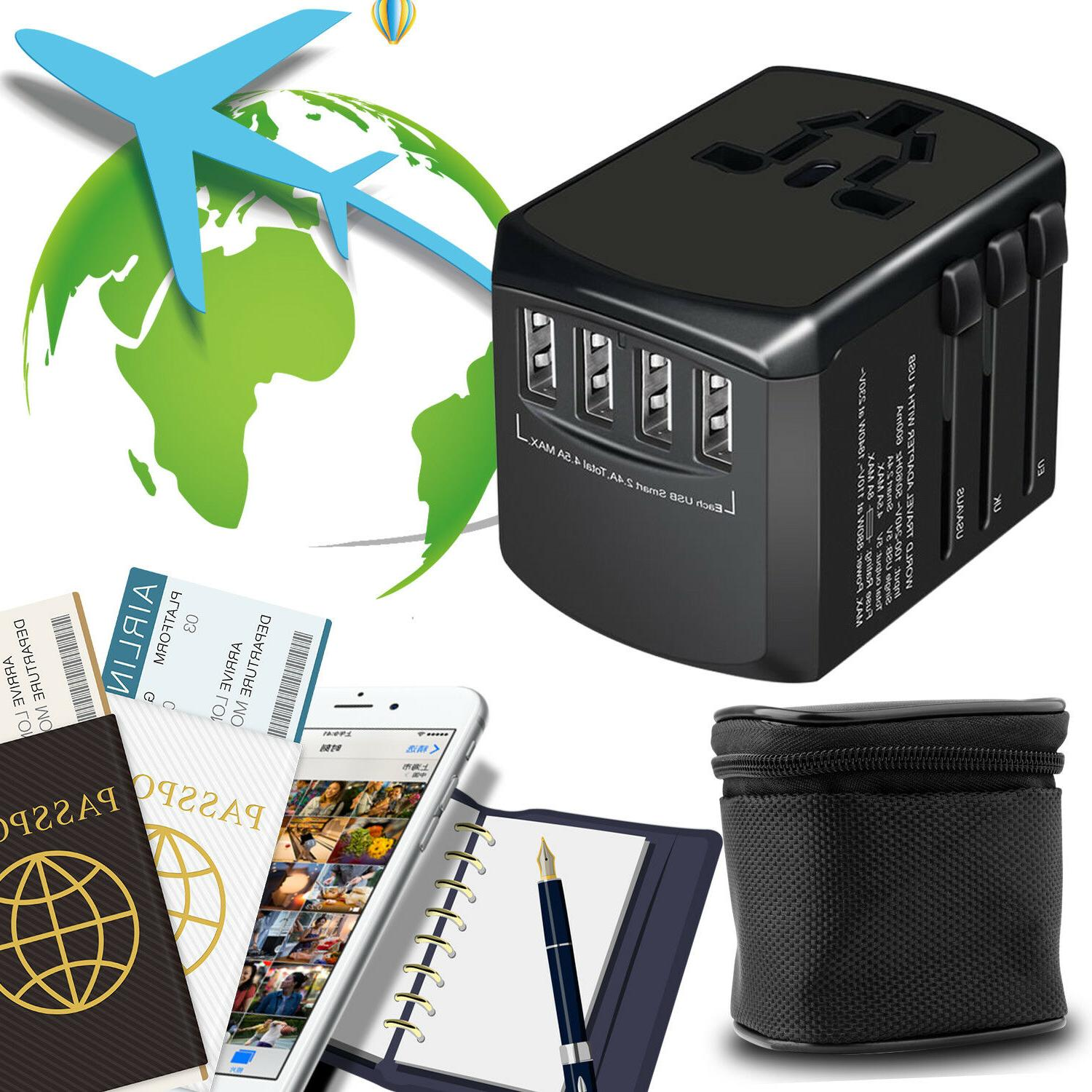 Universal Travel Adapter Charger Outlet AU EU