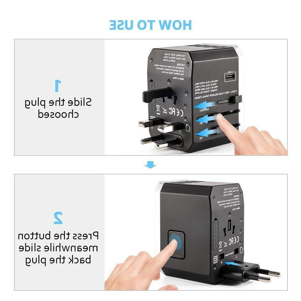 Universal Travel All in Converter with USB Ports