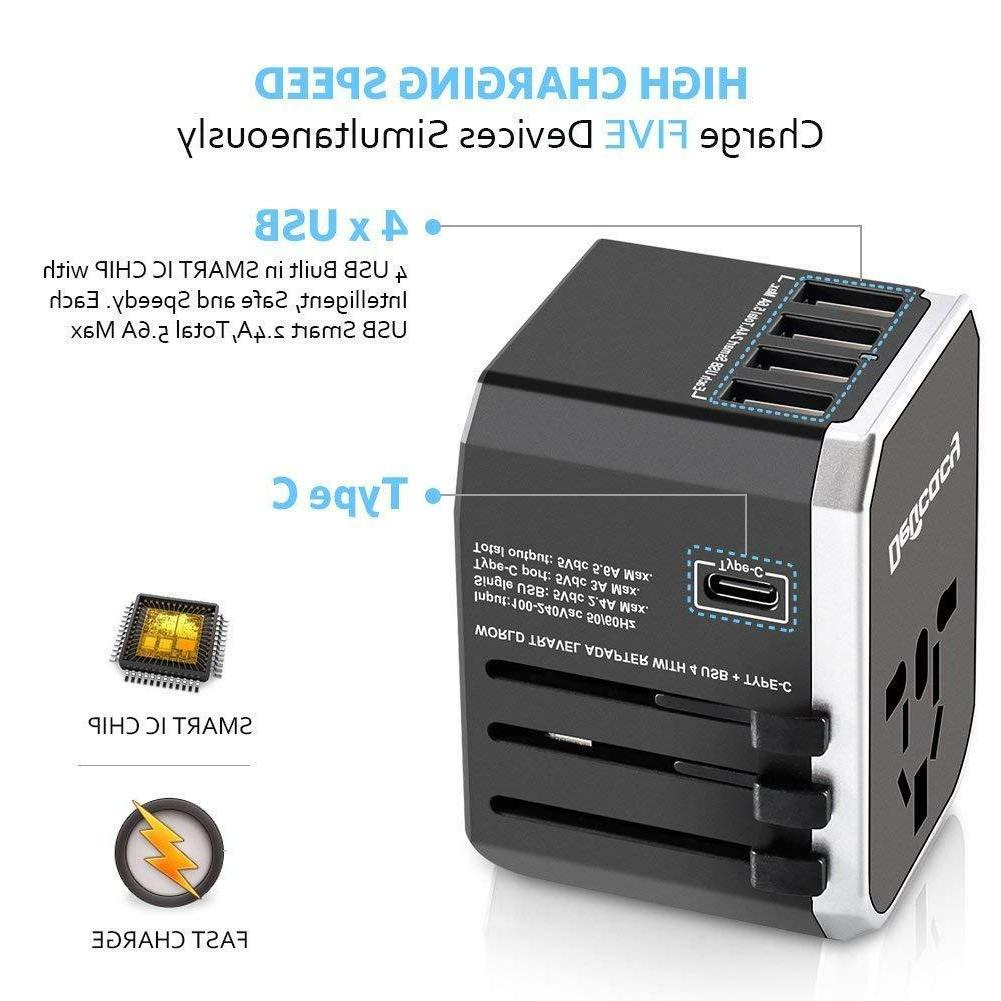 Universal Adapter All One Adapter Converter 4 USB Ports