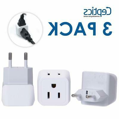 usa most europe adapter plug