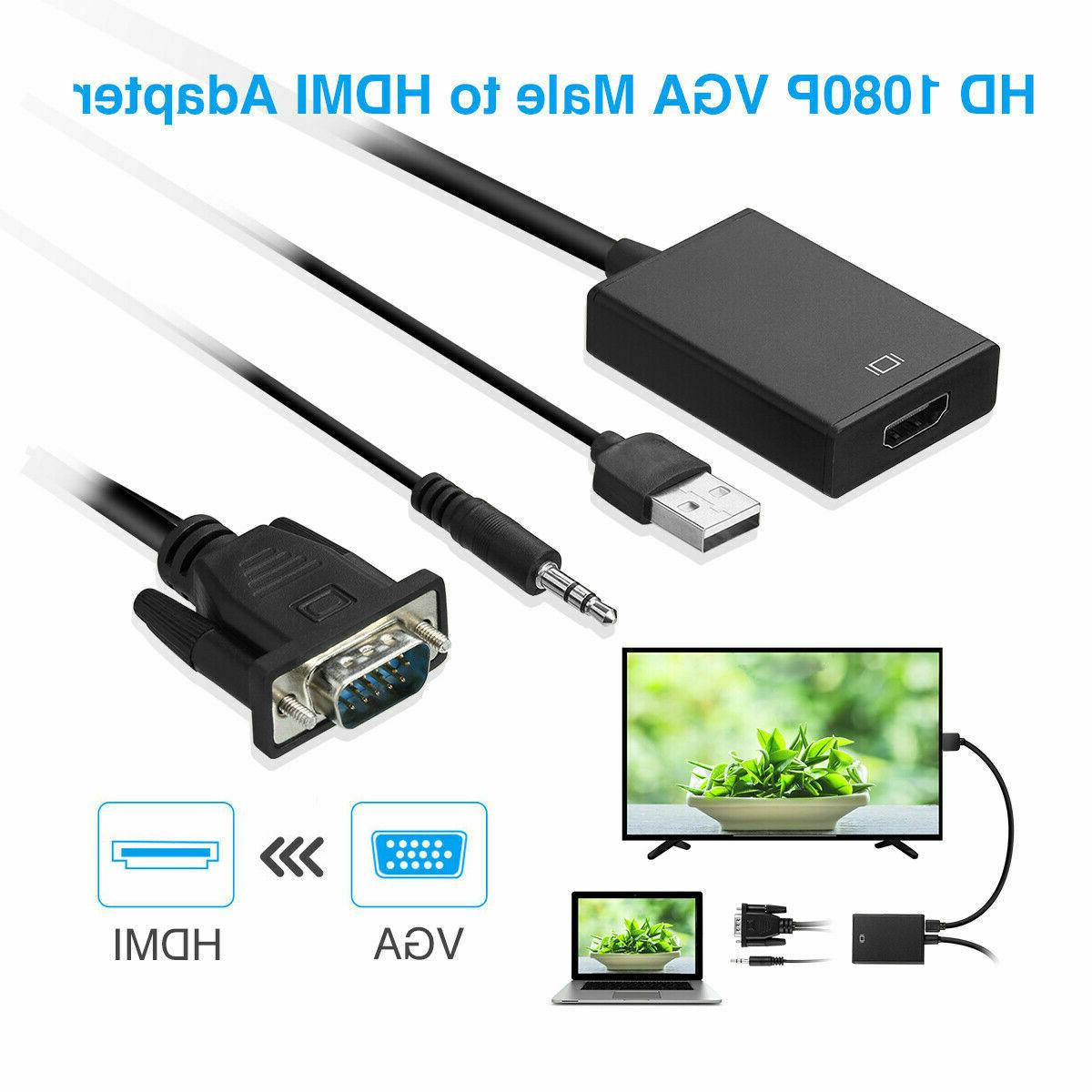 VGA To 1080P Audio Cable For PC