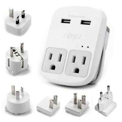 Ceptics 6 Travel Adapter USB Outlets