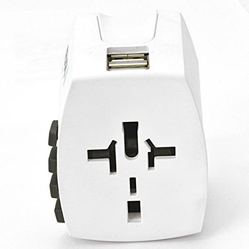 All Power Converters Power Adapter Power Plug Charger Dual USB Charging for EU UK AUS