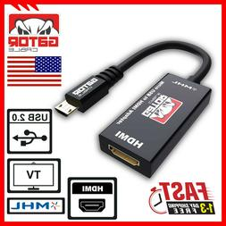 MHL Micro USB to HDMI Adapter Converter Cable for Android Ph
