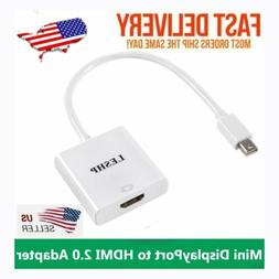 Mini DisplayPort to HDMI 2.0 Adapter Converter Supporting 4K