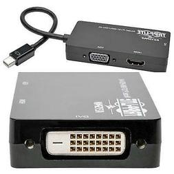 6in Mini DisplayPort to VGA / DVI / HDMI Adapter Converter 4