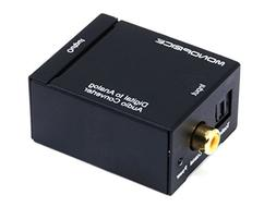 Agptek Monoprice Digital Coax Optical Toslink to L/R Stereo
