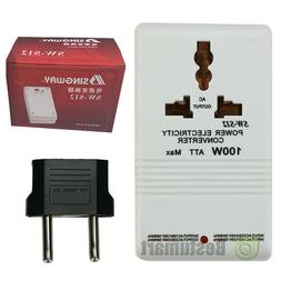 New 110V to 220V STEP Up/Down VOLTAGE CONVERTER 100W Watt TR
