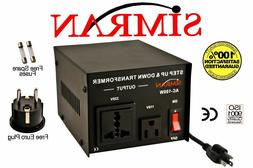 New 200 Watt 110v to 220v Transformer Voltage Converter 220
