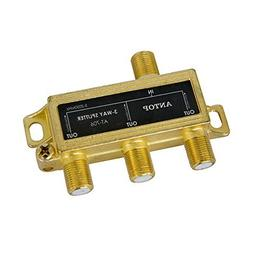ANTOP Low-loss 3 Way Coaxial Splitter for TV Antenna and Sat