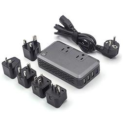 Power Converter Adapter Combo for International Travel, 2000