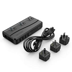 BESTEK Power Step Down 220V to 110V Voltage Converter 4-Port