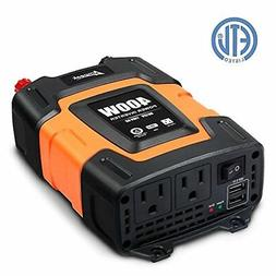 Ampeak 400W Power Inverter DC 12V to 110V AC Car Inverter wi