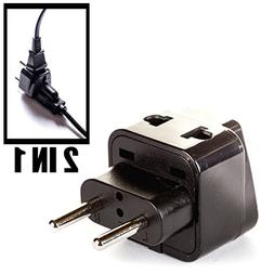 OREI Europe Power Plug Adapter Works in Russia, Turkey, Ethi