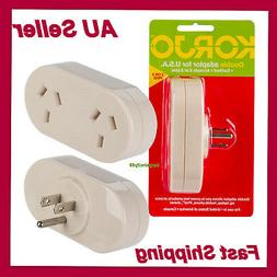 Korjo Adapter AU NZ to USA Canada and Mexico AC Power Plug F