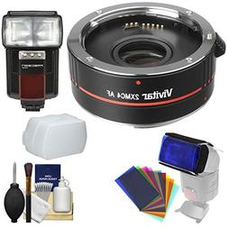 Vivitar Series 1 2X 4 Elements Teleconverter with Flash + Di