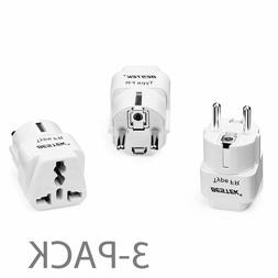 Set of 3 BESTEK  usa to europe France Adapter Plug Travel Ch