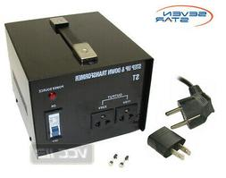 seven star st 1000 Step Up/Down transformer converts 220-240