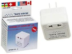 Compact Size Allows You to use Overseas 220-240 Volt Items in The USA etc. Seven Star SS214 50 Watts Step Up Travel Converter Canada