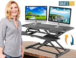 Standing Desk Stand Up Desks Height Adjustable Sit Stand Con