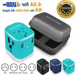 Bonaker Universal Travel Adapter Power Converters All-in-One