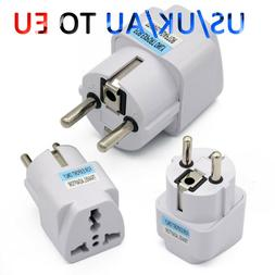 Universal UK US AU to EU European Power Socket Plug Adapter