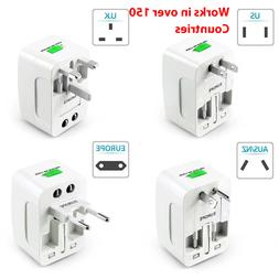 US to EU Europe Universal Travel Adapter Charger Converter A