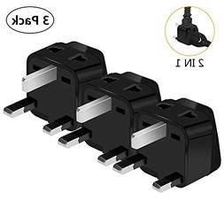 US to UK Power Plug Adapter, UROPHYLLA Type G Outlet Travel