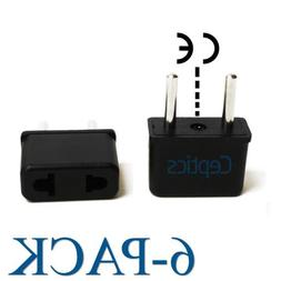 Ceptics USA to Europe Asia Plug Adapter CE Certified RoHS Co