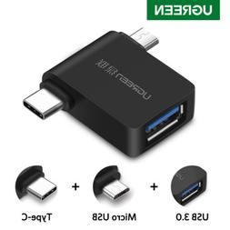 Ugreen USB 3.0 OTG Cable Adapter Micro USB Type C Converter