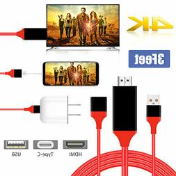 3ft 3in1 1080P HD USB to HDMI Cable Cord Converter for iPad/